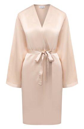 Женский халат MARJOLAINE кремвого цвета, арт. Laser | Фото 1