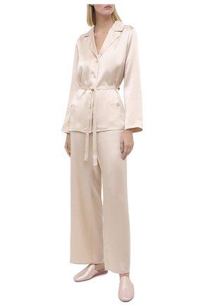 Женская шелковая пижама MARJOLAINE кремвого цвета, арт. 3SOI5533 | Фото 1