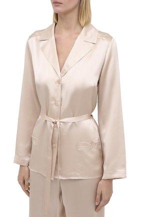 Женская шелковая пижама MARJOLAINE кремвого цвета, арт. 3SOI5533 | Фото 2