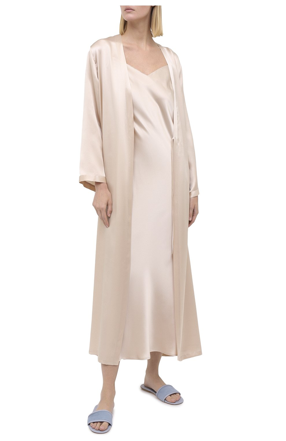 Женский халат MARJOLAINE кремвого цвета, арт. Laurian | Фото 2