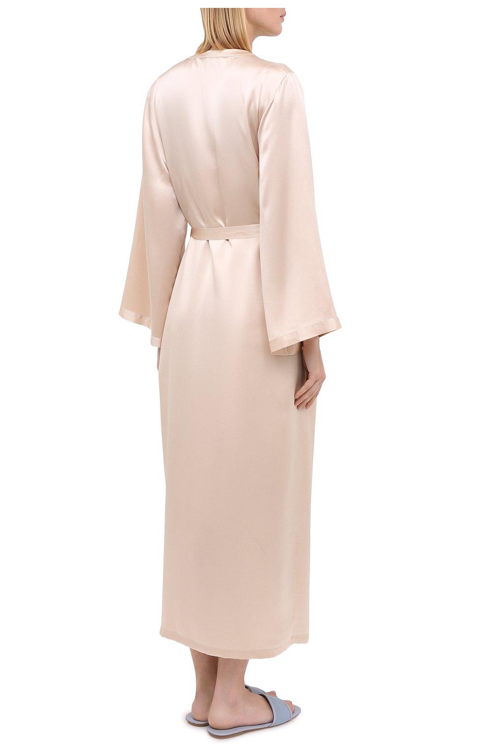 Женский халат MARJOLAINE кремвого цвета, арт. Laurian | Фото 4