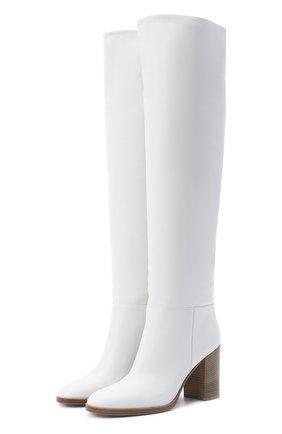 Женские кожаные сапоги GIANVITO ROSSI белого цвета, арт. G80484.85CU0.VGTBIAN | Фото 1