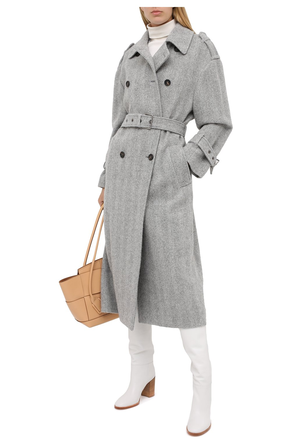 Женские кожаные сапоги GIANVITO ROSSI белого цвета, арт. G80484.85CU0.VGTBIAN | Фото 2