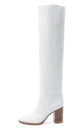 Женские кожаные сапоги GIANVITO ROSSI белого цвета, арт. G80484.85CU0.VGTBIAN | Фото 3