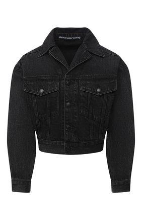 Женская джинсовая куртка DENIM X ALEXANDER WANG серого цвета, арт. 4DC2202784   Фото 1
