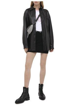 Женская юбка ALEXANDERWANG.T черного цвета, арт. 4KC2205040 | Фото 2
