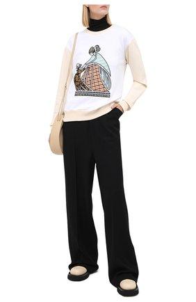 Женская хлопковый свитшот LANVIN кремвого цвета, арт. RW-T0637J-JR19-A20 | Фото 2