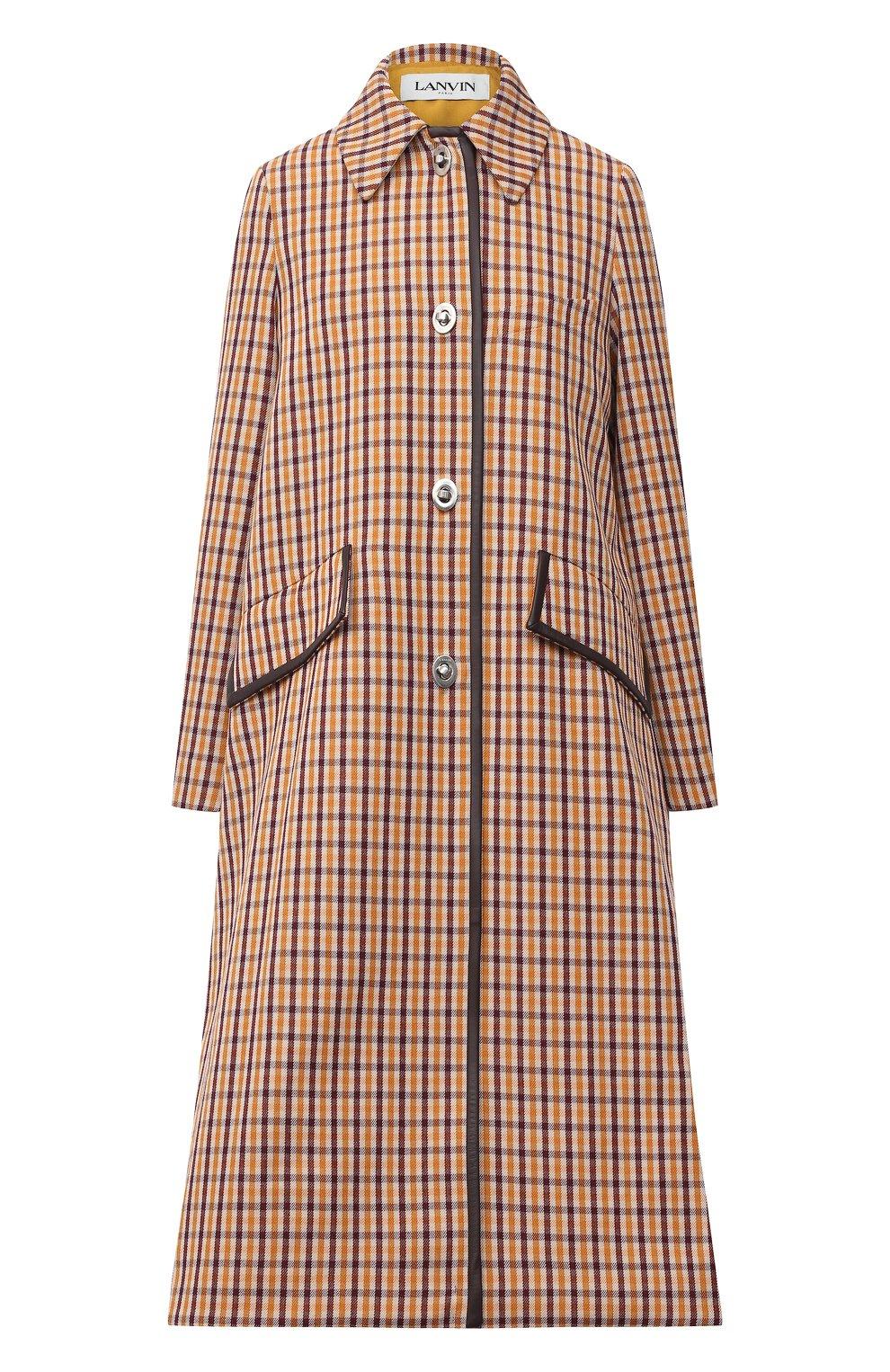 Женское шерстяное пальто LANVIN бежевого цвета, арт. RW-C0117K-4586-A20 | Фото 1