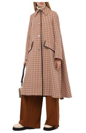 Женское шерстяное пальто LANVIN бежевого цвета, арт. RW-C0117K-4586-A20 | Фото 3