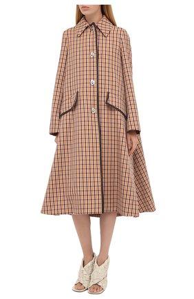 Женское шерстяное пальто LANVIN бежевого цвета, арт. RW-C0117K-4586-A20 | Фото 4
