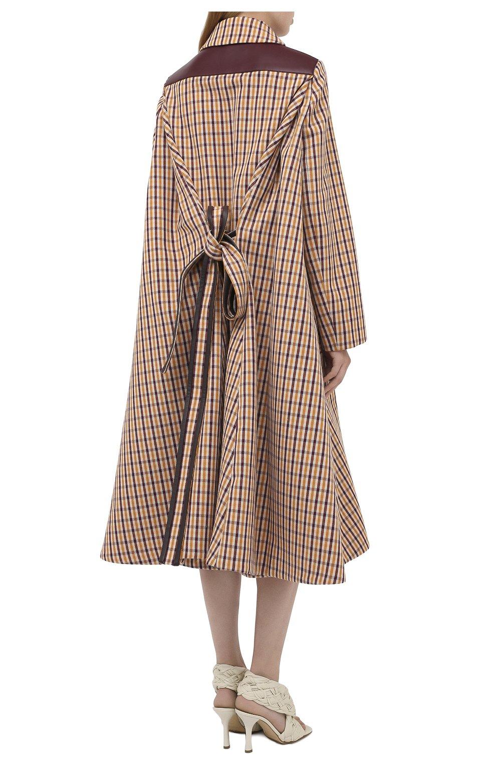Женское шерстяное пальто LANVIN бежевого цвета, арт. RW-C0117K-4586-A20 | Фото 5