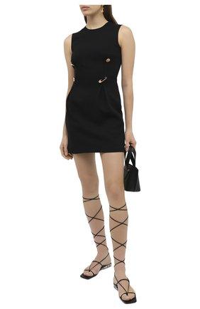 Женское платье из вискозы VERSACE черного цвета, арт. A87297/A208429 | Фото 2