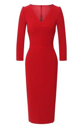 Женское платье DOLCE & GABBANA красного цвета, арт. F6I6QT/FURDV | Фото 1