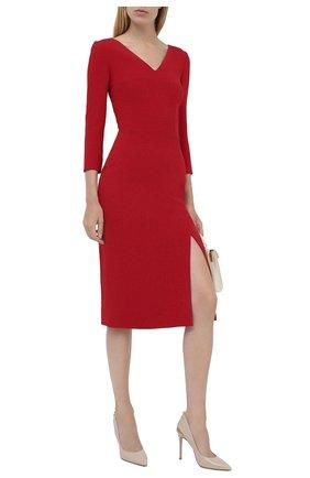 Женское платье DOLCE & GABBANA красного цвета, арт. F6I6QT/FURDV | Фото 2
