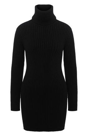 Женское кашемировое платье SAINT LAURENT черного цвета, арт. 636046/YALJ2 | Фото 1