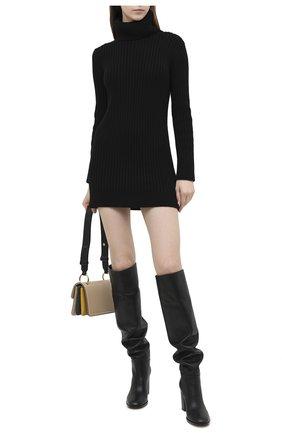 Женское кашемировое платье SAINT LAURENT черного цвета, арт. 636046/YALJ2 | Фото 2