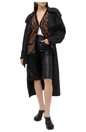Женский кардиган SAINT LAURENT коричневого цвета, арт. 631049/YASE2 | Фото 2