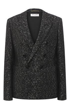 Женский шерстяной жакет SAINT LAURENT черного цвета, арт. 611054/Y3B68 | Фото 1