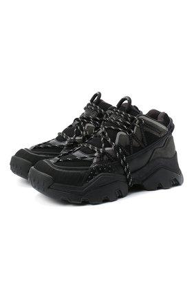 Женские комбинированные кроссовки KENZO черного цвета, арт. FA62SN300L69 | Фото 1