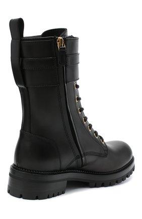 Женские кожаные ботинки VERSACE черного цвета, арт. DST419E/DVTA3 | Фото 4