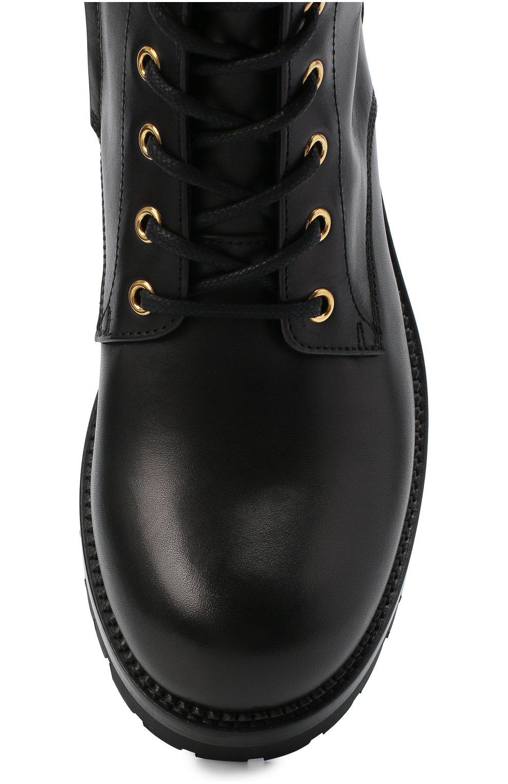 Женские кожаные ботинки VERSACE черного цвета, арт. DST419E/DVTA3 | Фото 5