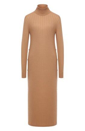Женское кашемировое платье LORO PIANA бежевого цвета, арт. FAL2569 | Фото 1