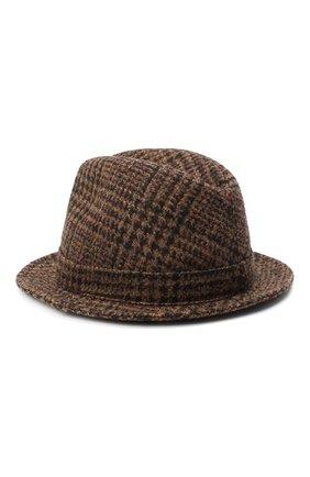 Женская шерстяная шляпа DOLCE & GABBANA коричневого цвета, арт. FH430A/FQMH8   Фото 2