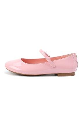 Детские балетки из лаковой кожи DOLCE & GABBANA светло-розового цвета, арт. D10699/A1328/24-28 | Фото 2