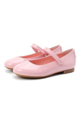 Детские балетки из лаковой кожи DOLCE & GABBANA светло-розового цвета, арт. D10699/A1328/29-36 | Фото 1