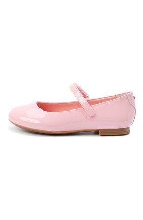 Детские балетки из лаковой кожи DOLCE & GABBANA светло-розового цвета, арт. D10699/A1328/29-36 | Фото 2