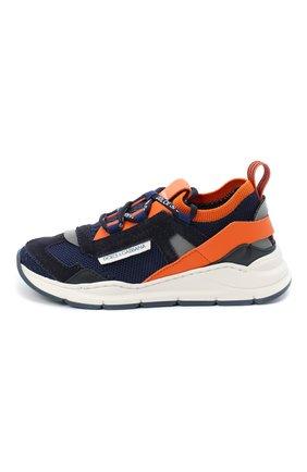 Детские кроссовки DOLCE & GABBANA оранжевого цвета, арт. DA0904/AX036/29-36 | Фото 2 (Материал внешний: Текстиль; Материал внутренний: Натуральная кожа; Стили: Гранж)