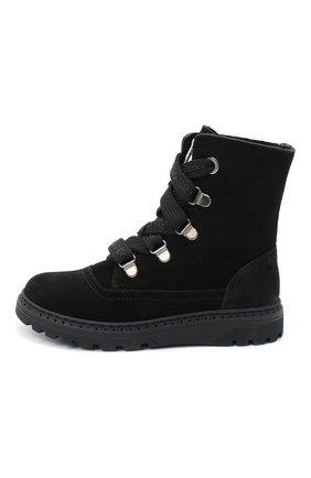 Детские замшевые ботинки DOLCE & GABBANA черного цвета, арт. DA0744/AW750/29-36 | Фото 2