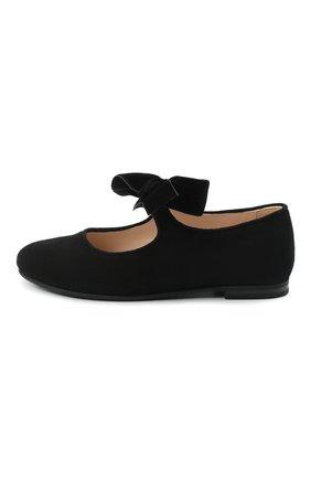 Детские замшевые туфли IL GUFO черного цвета, арт. G295/SUEDE/27-30   Фото 2
