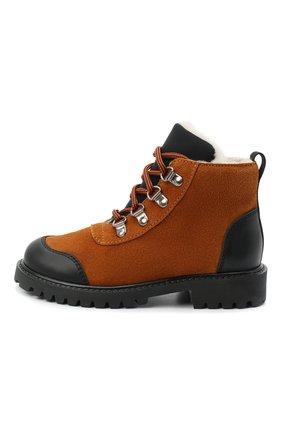 Детские замшевые ботинки IL GUFO коричневого цвета, арт. G420/VEL0UR/27-30   Фото 2