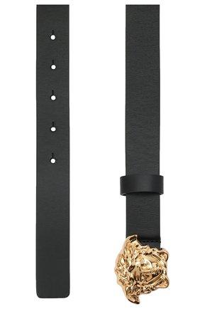 Детский кожаный ремень VERSACE черного цвета, арт. YMX00002/YB00288 | Фото 2