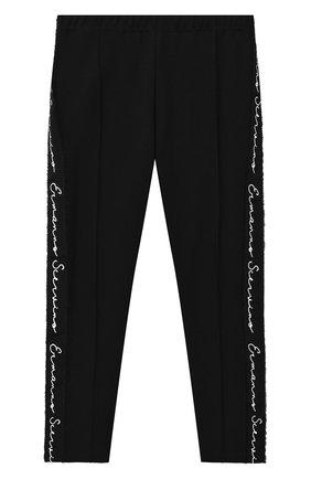 Детские брюки ERMANNO SCERVINO черного цвета, арт. 47I LG02 PMI/10-16 | Фото 1 (Девочки Кросс-КТ: Брюки-одежда; Ростовка одежда: 16 лет | 164 см)