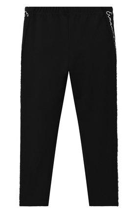 Детские брюки ERMANNO SCERVINO черного цвета, арт. 47I LG02 PMI/10-16 | Фото 2 (Девочки Кросс-КТ: Брюки-одежда; Ростовка одежда: 16 лет | 164 см)