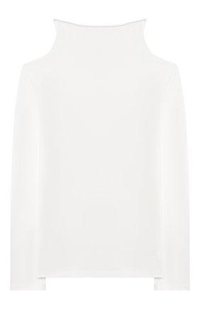 Детская хлопковая водолазка ERMANNO SCERVINO белого цвета, арт. 47I TS06 JEA/10-16 | Фото 1