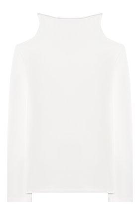 Детская хлопковая водолазка ERMANNO SCERVINO белого цвета, арт. 47I TS06 JEA/10-16 | Фото 2