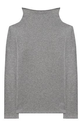 Детская хлопковая водолазка ERMANNO SCERVINO серого цвета, арт. 47I TS06 JEA/10-16 | Фото 1