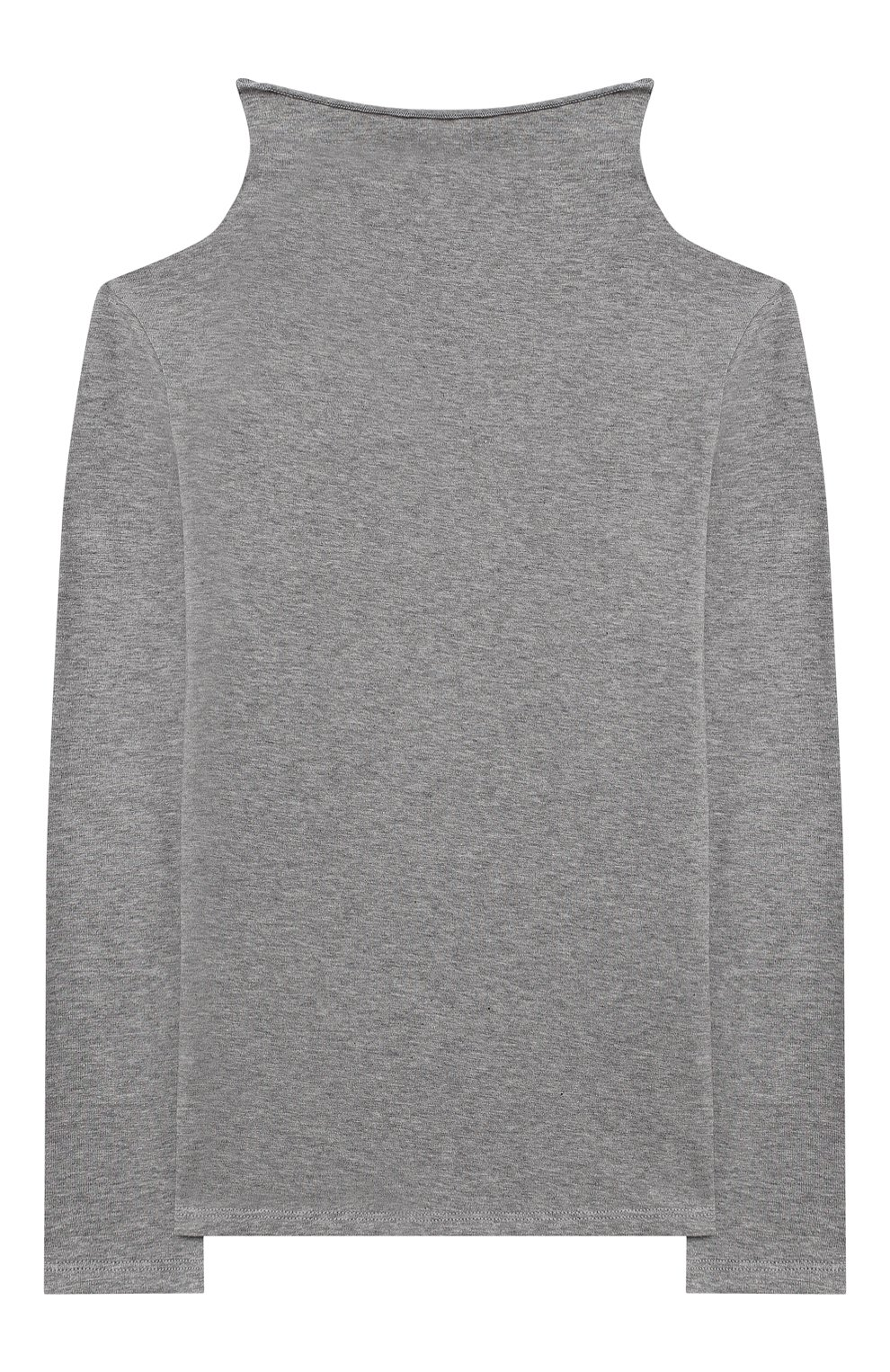 Детская хлопковая водолазка ERMANNO SCERVINO серого цвета, арт. 47I TS06 JEA/10-16 | Фото 2