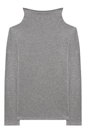 Детская хлопковая водолазка ERMANNO SCERVINO серого цвета, арт. 47I TS06 JEA/4-8 | Фото 2 (Материал внешний: Хлопок; Рукава: Длинные; Кросс-КТ: водолазка; Ростовка одежда: 6 лет | 116 см, 8 лет | 128 см)