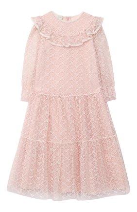 Детское платье GUCCI розового цвета, арт. 629148/ZAE02   Фото 1