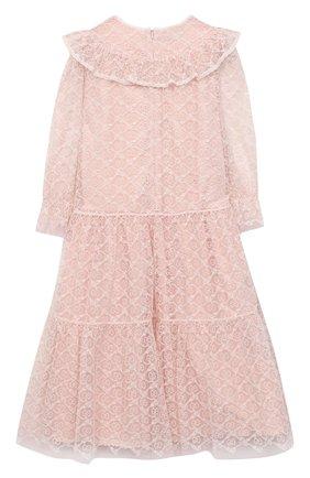 Детское платье GUCCI розового цвета, арт. 629148/ZAE02   Фото 2