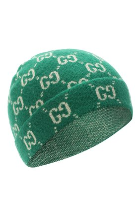 Детского шерстяная шапка GUCCI зеленого цвета, арт. 627562/4K206   Фото 1