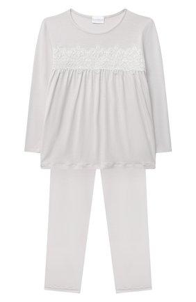 Детская пижама LA PERLA серого цвета, арт. 55151/2A-6A | Фото 1