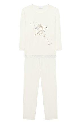 Детская пижама LA PERLA бежевого цвета, арт. 55221/2A-6A | Фото 1