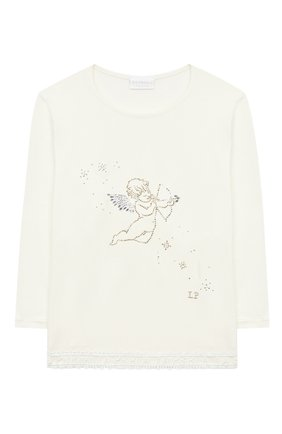 Детская пижама LA PERLA бежевого цвета, арт. 55221/2A-6A | Фото 2