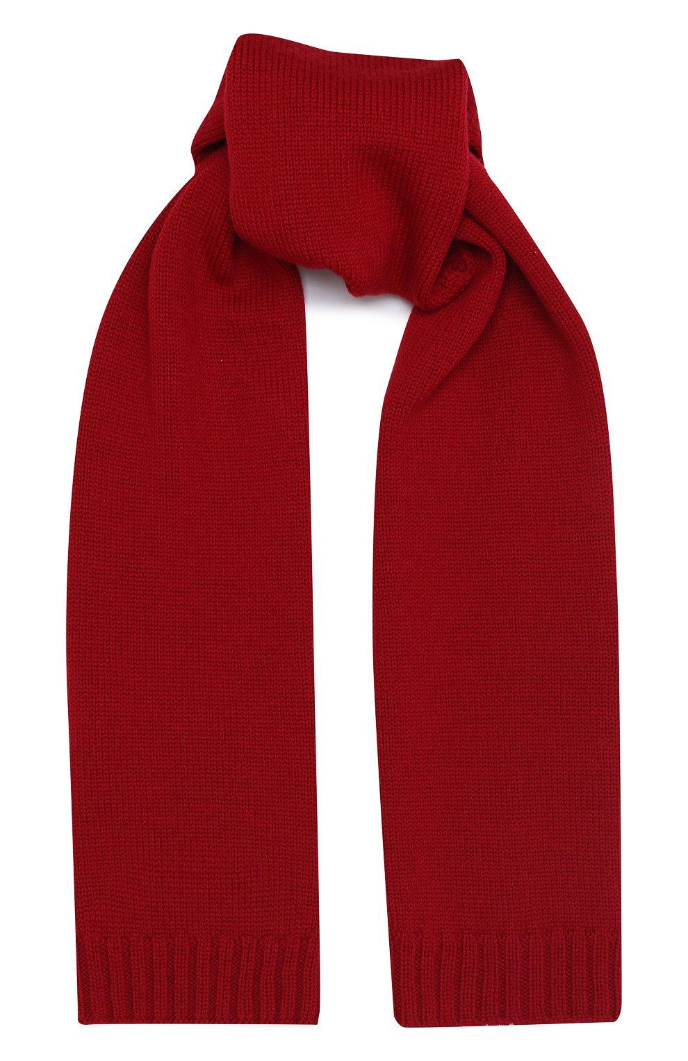 Детский шерстяной шарф DOLCE & GABBANA красного цвета, арт. LBKA47/JAVWK | Фото 1 (Материал: Шерсть)