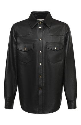 Мужская кожаная рубашка GUCCI черного цвета, арт. 624736/XNALJ | Фото 1